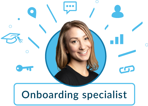 Onboarding specialist graphic - alicia