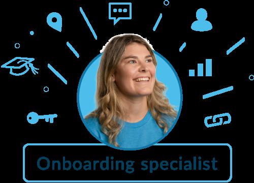 Onboarding specialist graphic - maddie